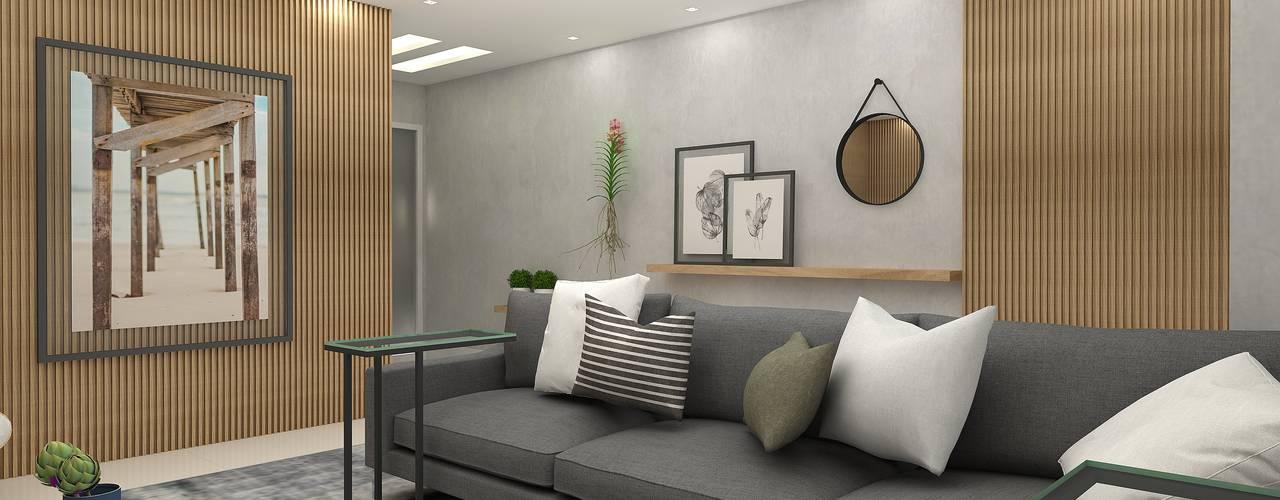 Sala para Relaxar e Receber Salas de estar modernas por Arquiteto Virtual - Projetos On lIne Moderno