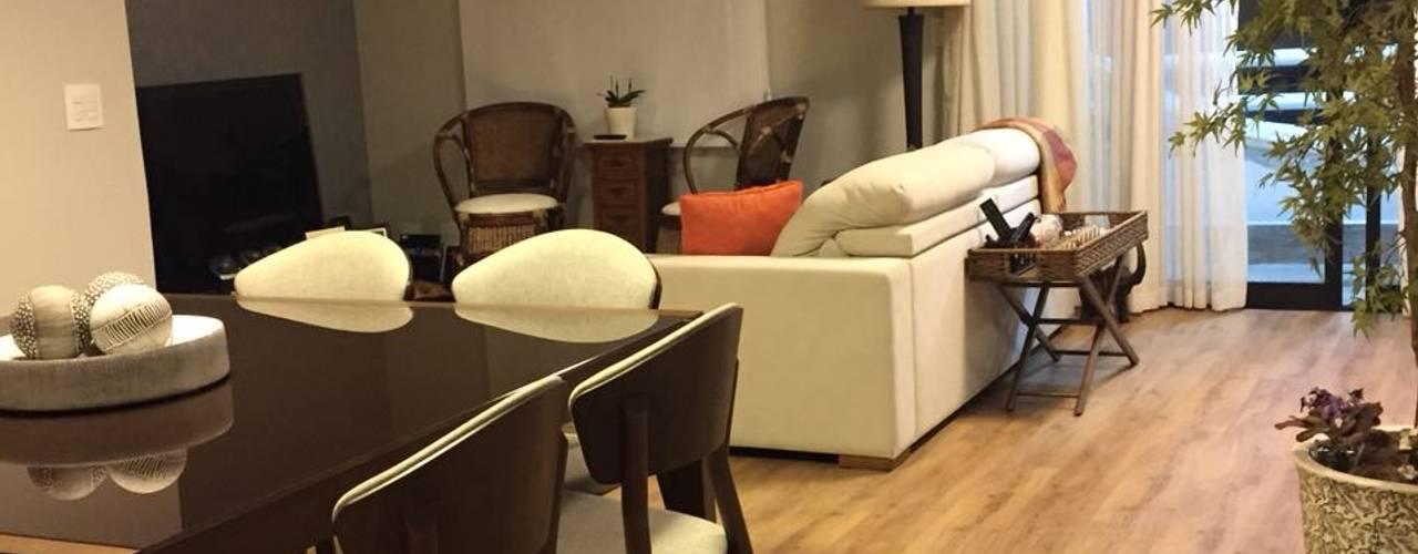 Projeto reforma de Interiores - apartamento de 100m²: Corredores e halls de entrada  por Ana Laura Wolcov - ARTE WOLCOV ,Eclético
