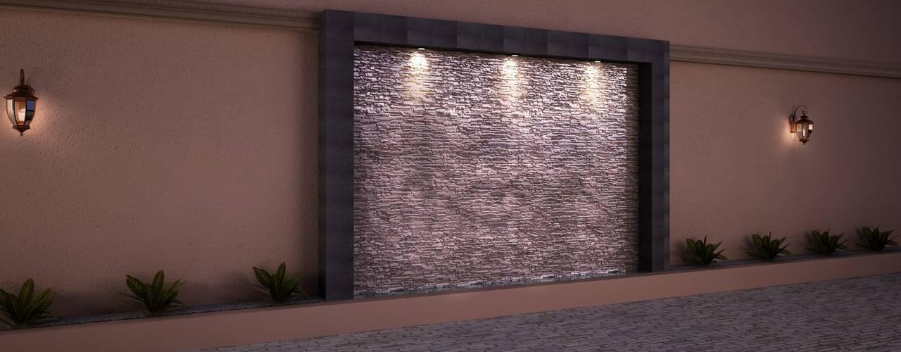 Remodelacion de muro de Colindancia y Fabricacion de Muro Lloron Balcones y terrazas mediterráneos de MSG Architecture SA DE CV Mediterráneo