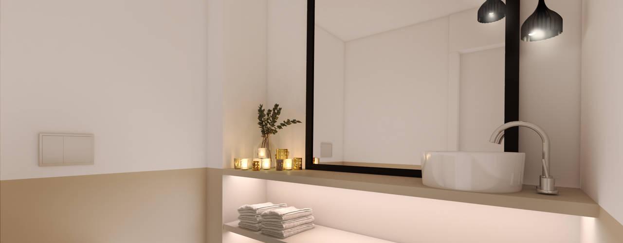 A importância da iluminação na decoração MIA arquitetos Casas de banho minimalistas