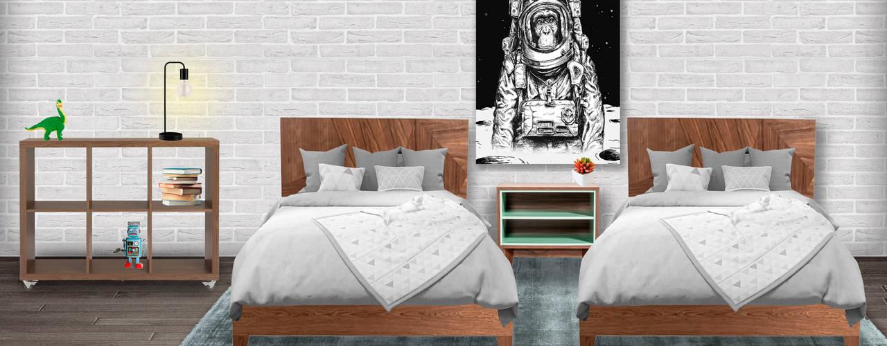 Decoración de interiores, proyecto familiar de moblum moblum Recámaras para niños