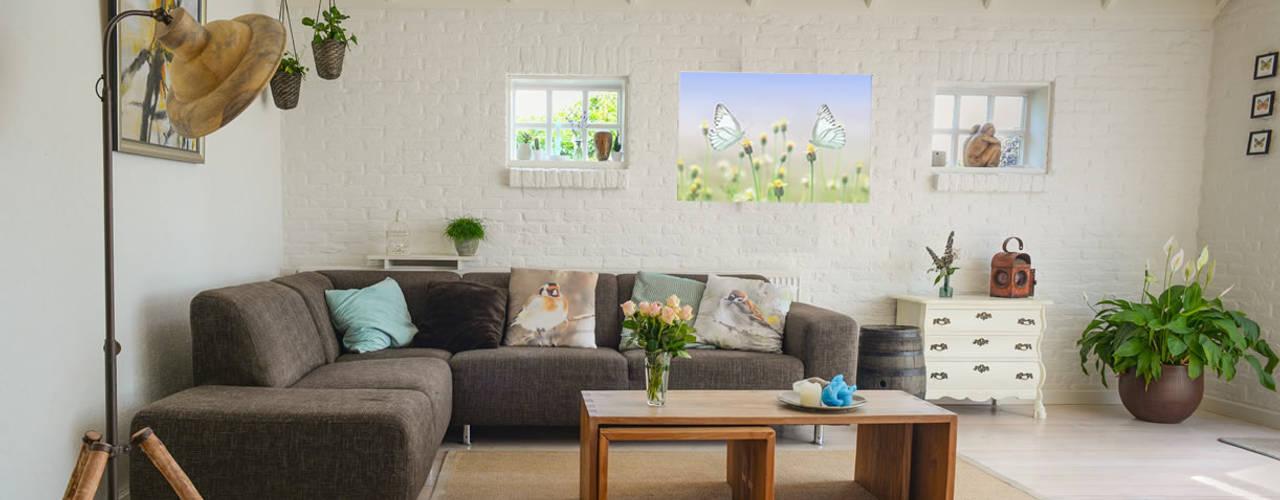 woonkamer verwarming Moderne woonkamers van Heat Art - infrarood verwarming Modern