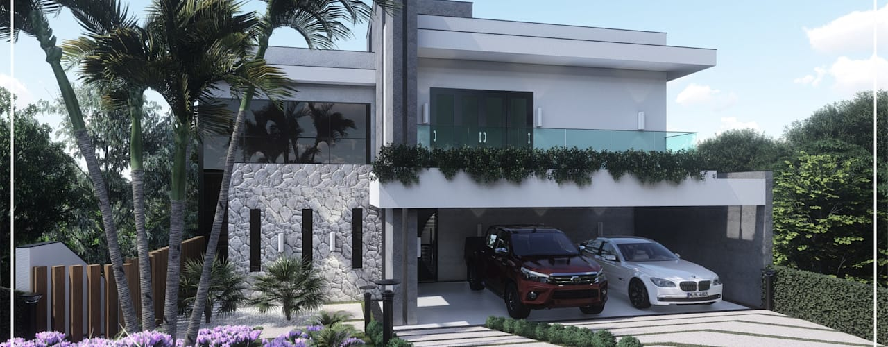 Projeto Residencial em linhas retas. por Juan Jurado Arquitetura & Engenharia Moderno