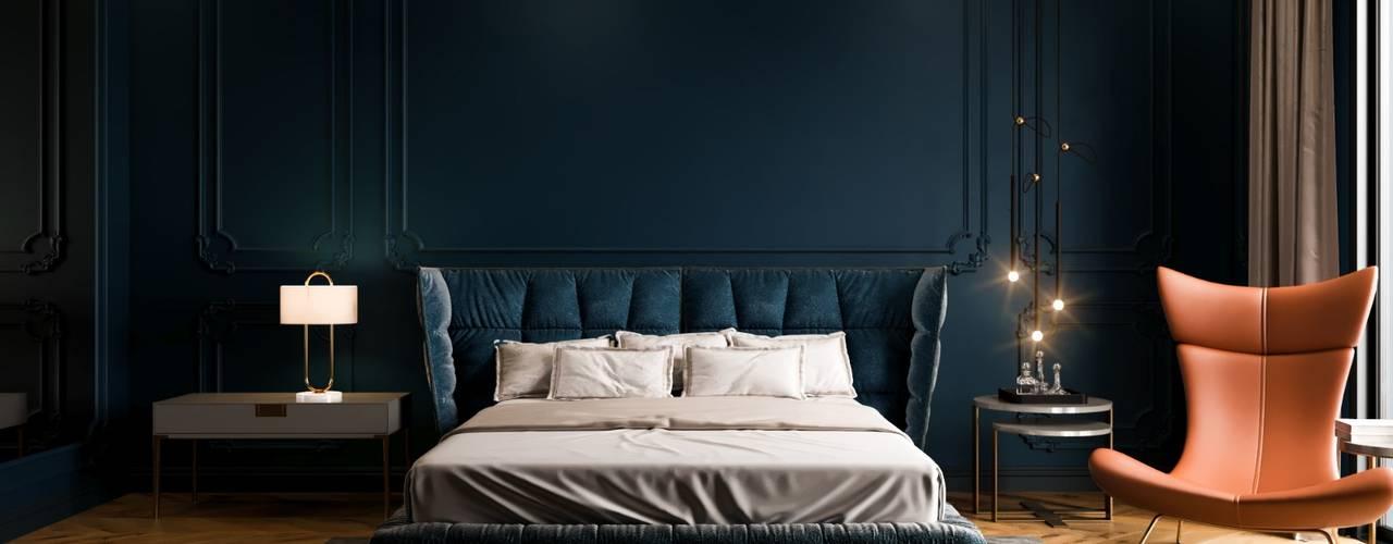 Decorvita mimarlık – Toskana Vadisi Villaları:  tarz Yatak Odası, Modern