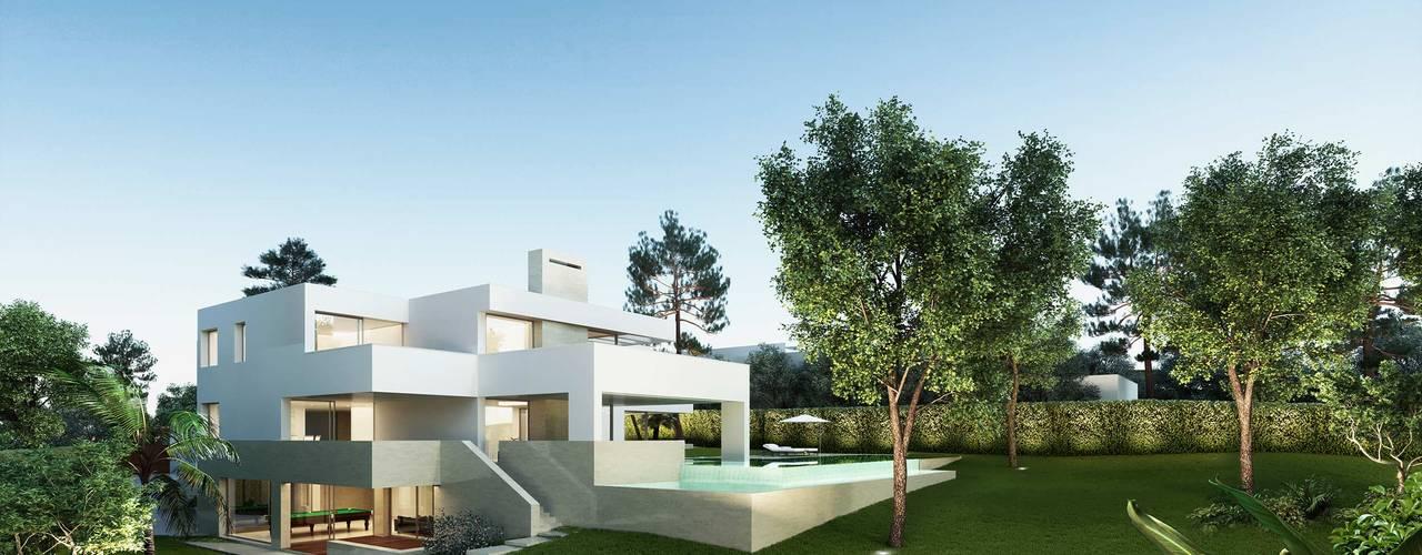 Casas unifamilares  por Otto Medem Arquitecto vanguardista en Madrid, Moderno