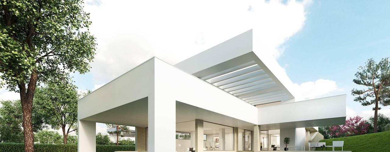 Detached home by Otto Medem Arquitecto vanguardista en Madrid, Modern