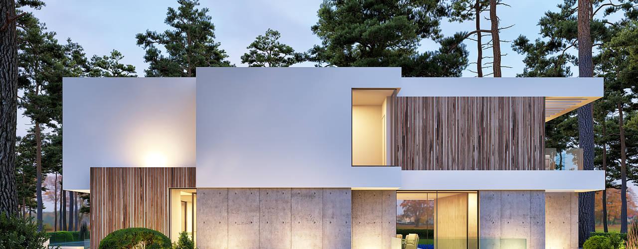 CASA BL1 - Moradia na Herdade da Aroeira - Projeto de Arquitetura por Traçado Regulador. Lda Moderno