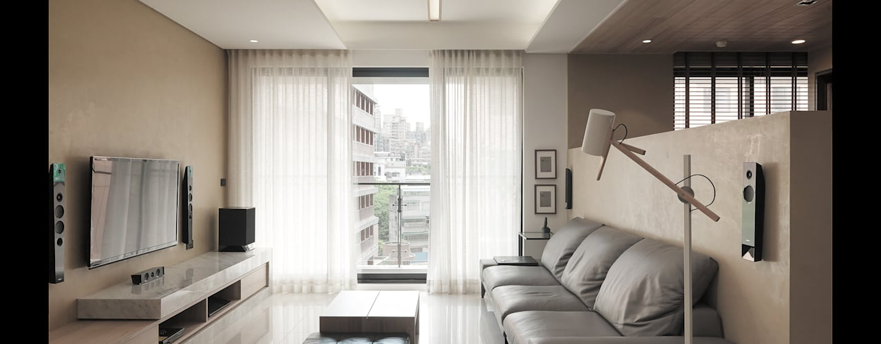 翰林院 现代客厅設計點子、靈感 & 圖片 根據 形構設計 Morpho-Design 現代風