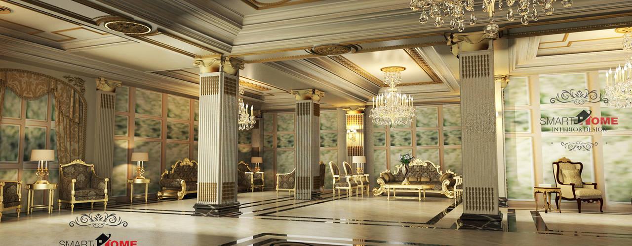 فيلا بتصميم كلاسيكى  التجمع الخامس مونتن فيو:  غرفة المعيشة تنفيذ smarthome, كلاسيكي