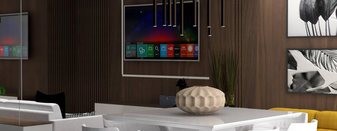 Apartamento Santana Salas de jantar modernas por Mari Milani Arquitetura & Interiores Moderno