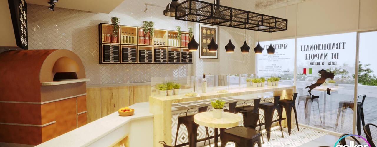 Gelker Ribeiro Arquitetura | Arquiteto Rio de Janeiro ห้องครัวขนาดเล็ก ไม้จริง Wood effect