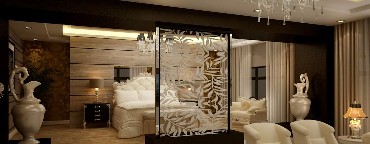 project 6 October:  غرف نوم صغيرة تنفيذ smarthome, حداثي