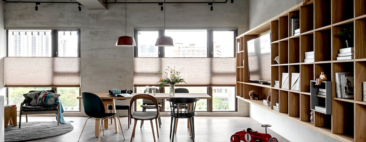 Industrial style living room by MSBT 幔室布緹 Industrial