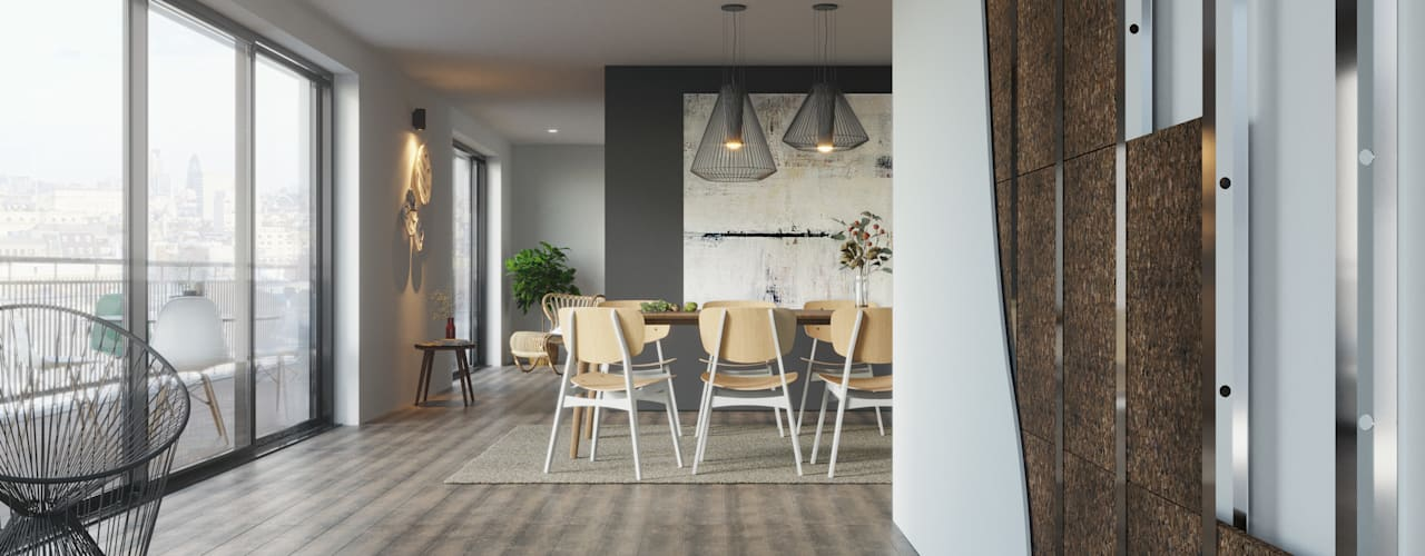 Construction Materials Modern dining room by Go4cork Modern