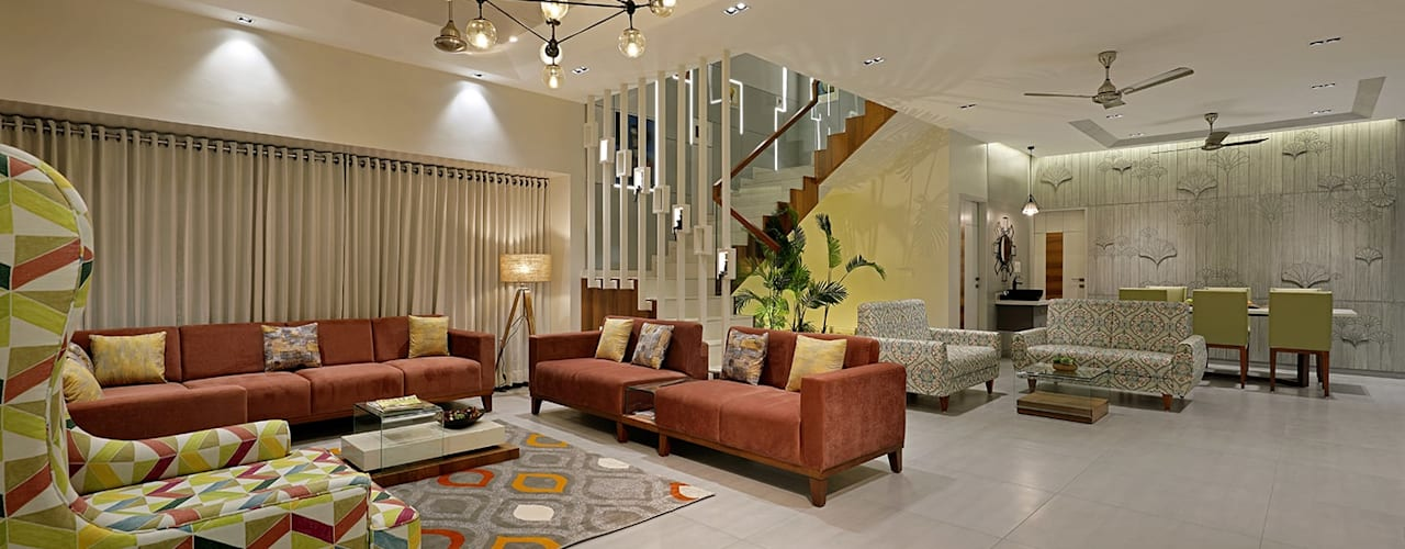 Pranay Shah Designs Modern living room