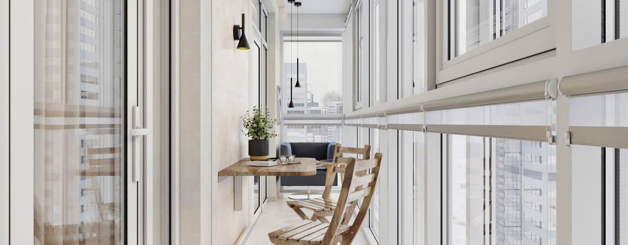 Дизайн интерьера маленькой квартиры от 'Академия Пространства' бюро архитектуры и дизайна Минимализм