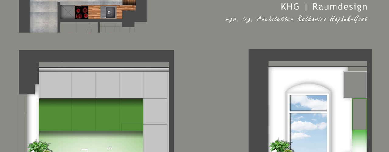 Multifunktionale Gewerbefläche - Projekt mit Fokus auf den Back-Office Bereich: modern  von KHG Raumdesign - Innenarchitektin in Berlin und Umland, mgr. ing. Architektur Katharina Hajduk-Gast,Modern