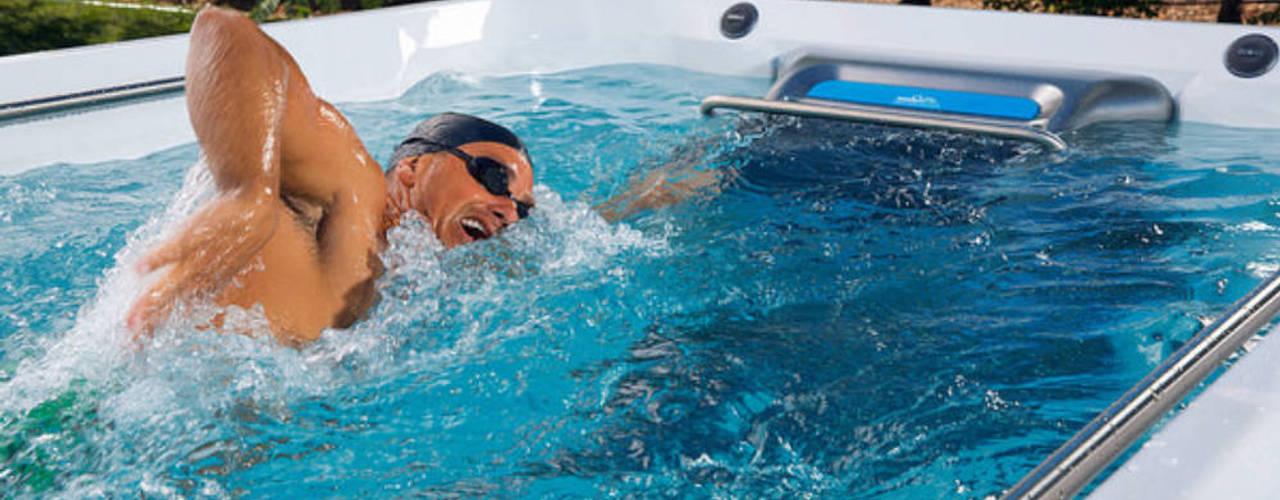 Whirlpool und Swim Spa:  Garten von SPA Deluxe GmbH - Whirlpools in Senden,