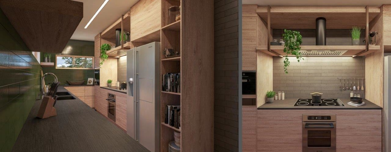 Project Siavonga, Zambia. Modern kitchen by Deborah Garth Interior Design International (Pty)Ltd Modern