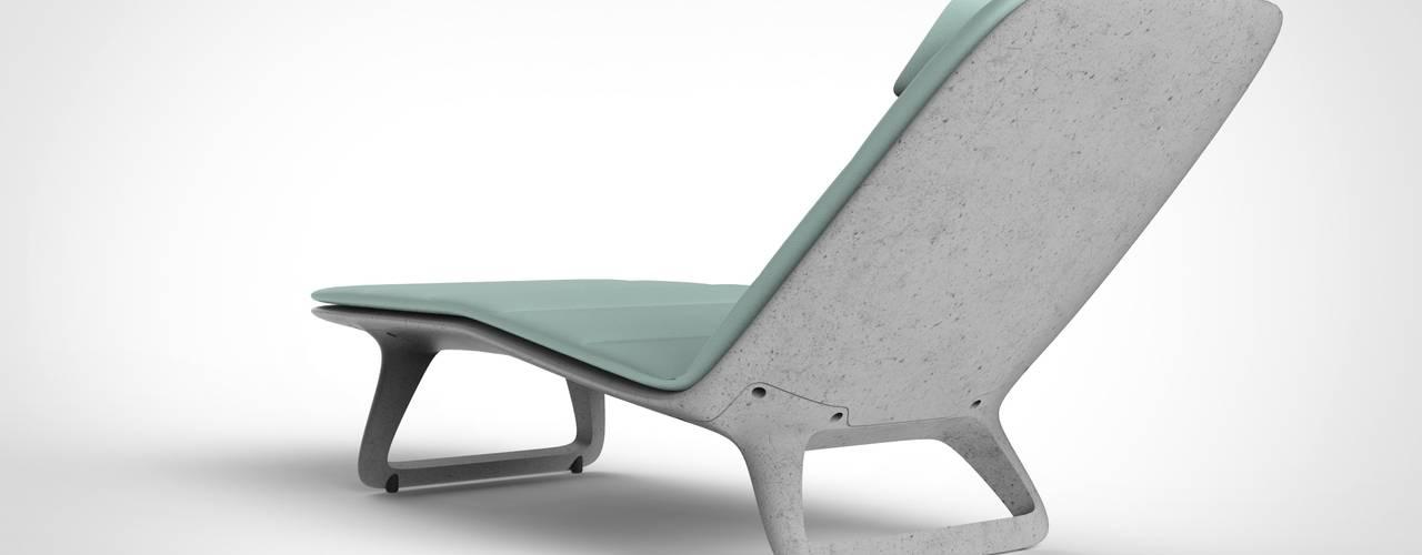 Chaiselongue, Liege aus Beton von DOMANI INTERIOR. Möbel. Art. aus Freiburg Ausgefallen