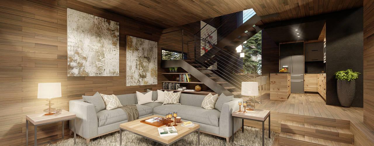 Casa CL Zenobia Architecture Livings de estilo moderno
