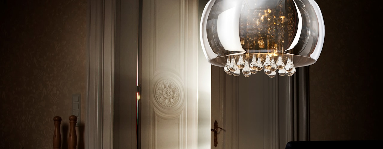 Exclusive pendant light BURN with crystals Modern dining room by Luxury Chandelier Modern