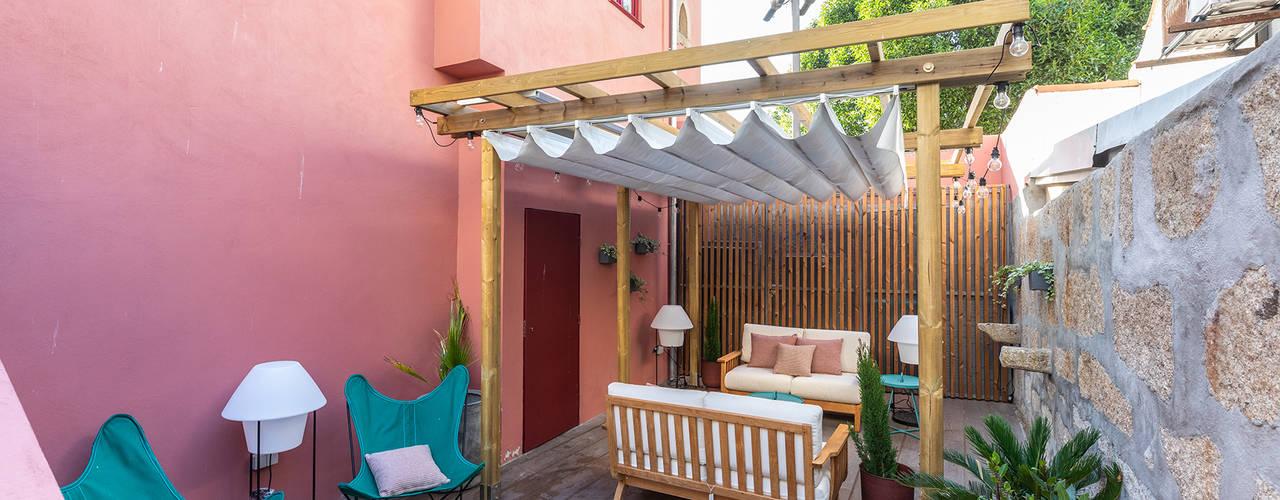 Harbour Inn, Guest House - Projeto SHI Studio Interior Design ShiStudio Interior Design Varandas, marquises e terraços modernos