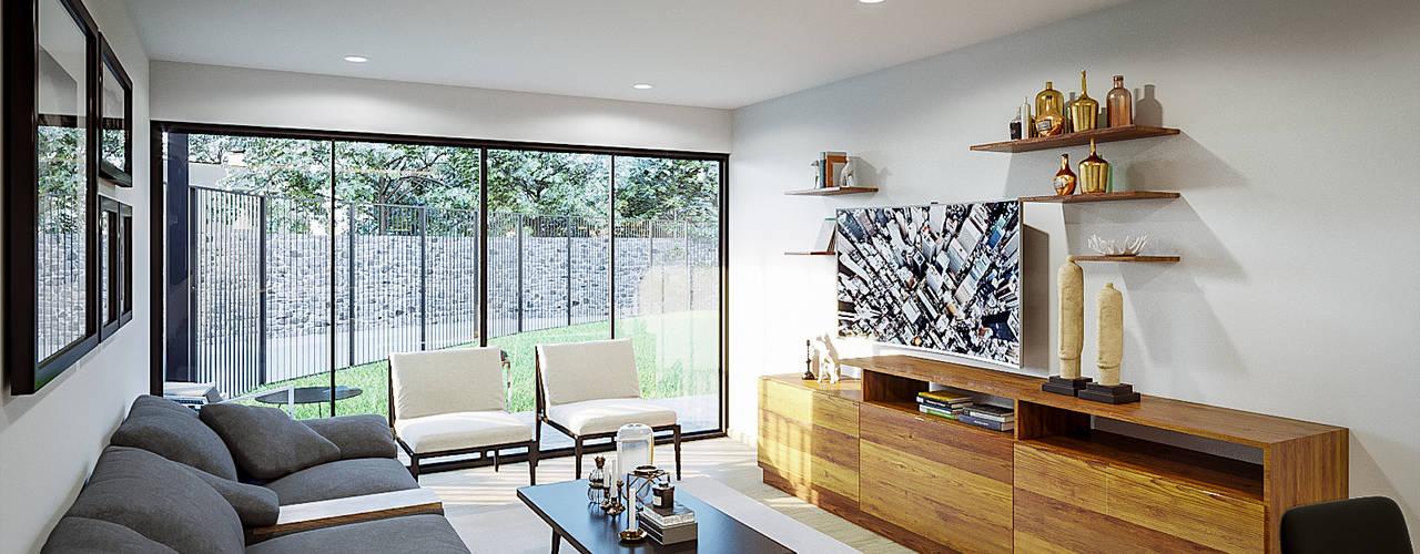 Urbyarch Arquitectura / Diseño Rustic style media room
