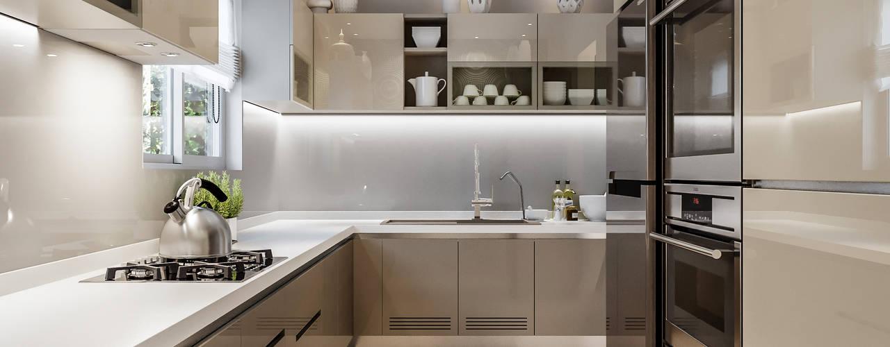 Prestige Falcon City Modern Kitchen by De Panache Modern