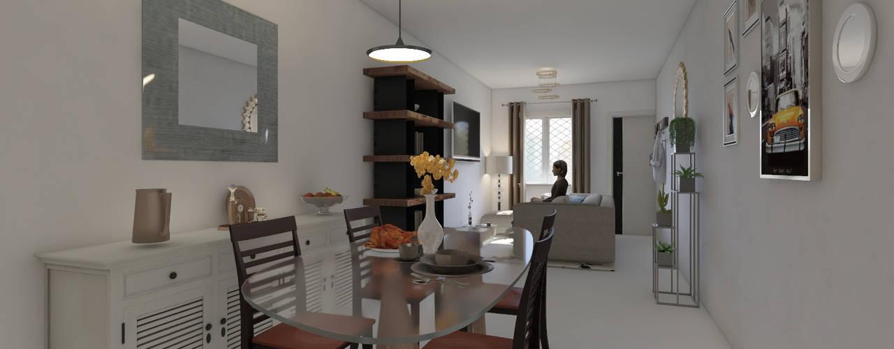 Diseño y decoración de interiores Pereira : Comedores de estilo  por Arkiline Arquitectura Optativa, Moderno