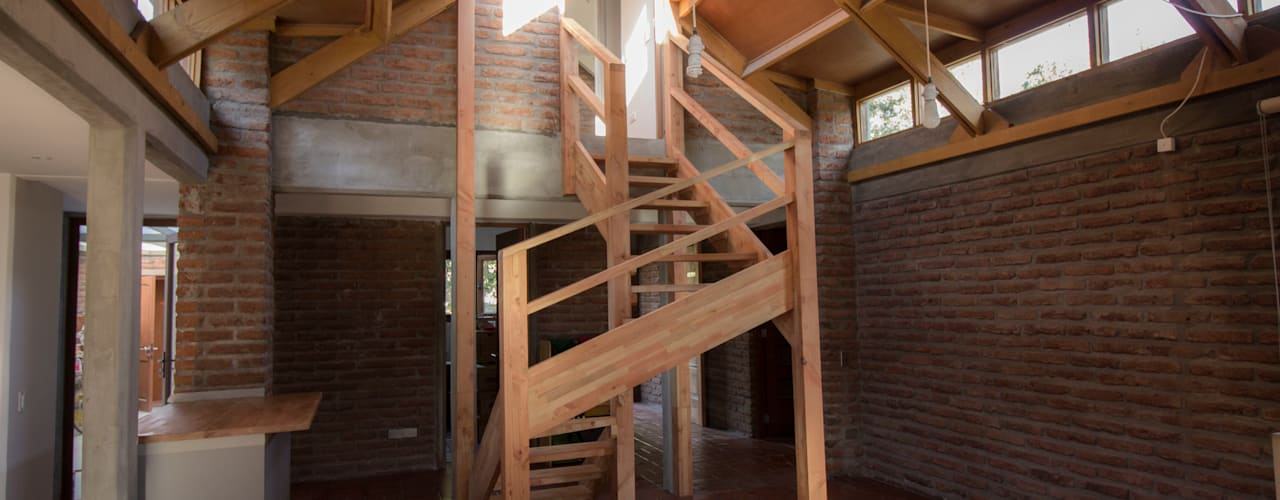 arquitectura oficio spa Stairs Solid Wood Wood effect
