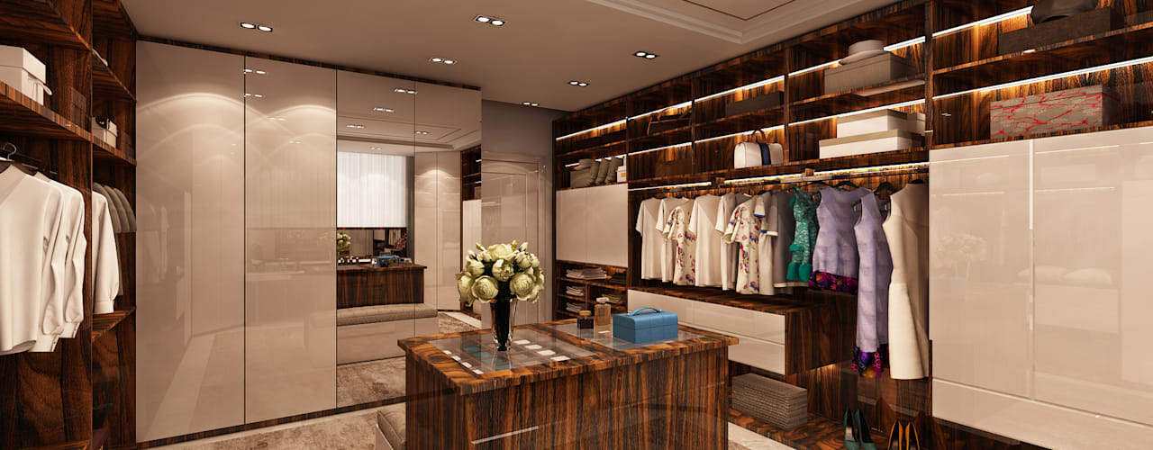 Closet - Projecto 3D para moradia no Estoril Closets modernos por Alpha Details Moderno