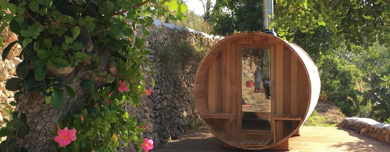 La construcci n de una sauna en una casa de campo en ibiza - Construccion de saunas ...