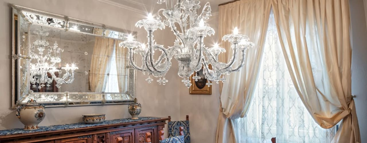 Private Villa in Franciacorta Classic style dining room by MULTIFORME® lighting Classic