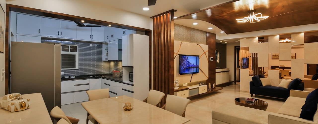 3 BHK Apartment in Song of Joy, Kharadi:  Dining room by AARAYISHH (Mumbai & Pune),Modern