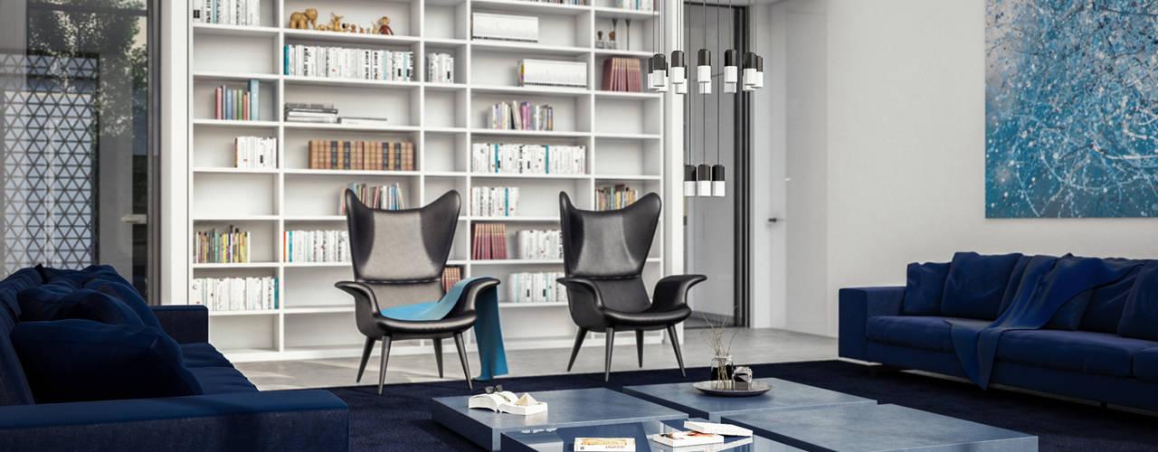Minimalist living room by Aeon Studio Minimalist