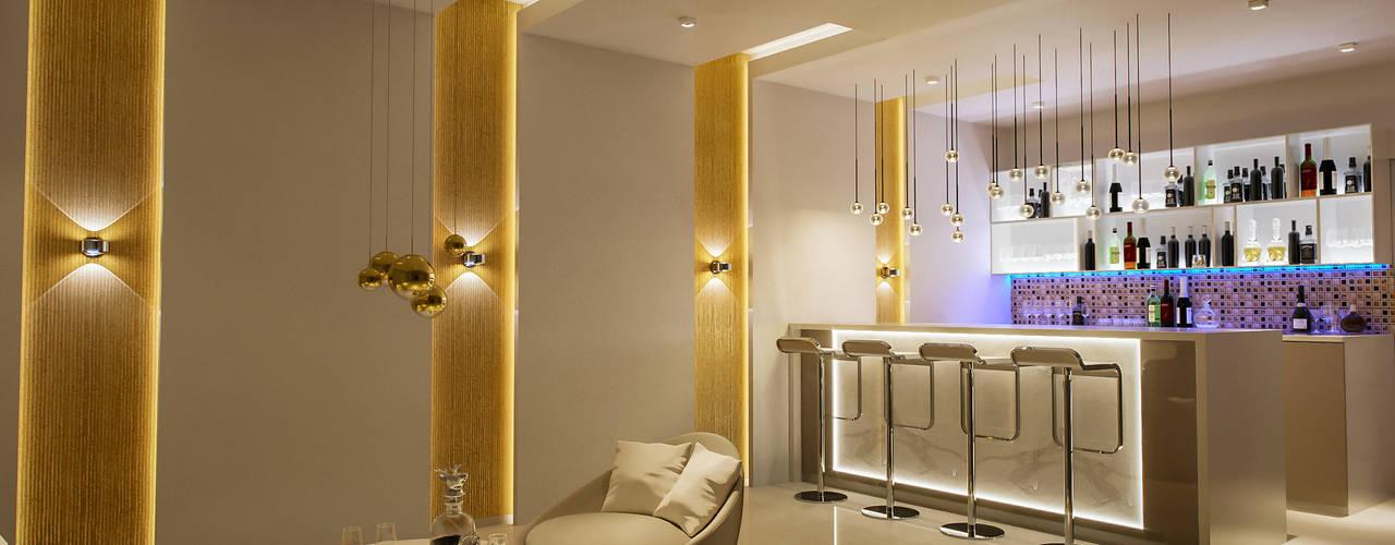 Bar Area De Panache - Interior Architects Modern wine cellar