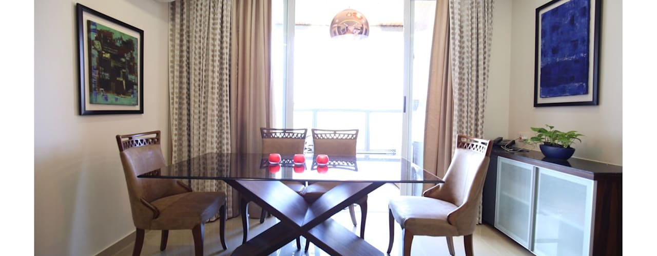 3BHK | Mr. Nikhil Jathar | Future Towers, Amnora Hadapsar, Pune Modern dining room by Nikhil Kanthe Modern