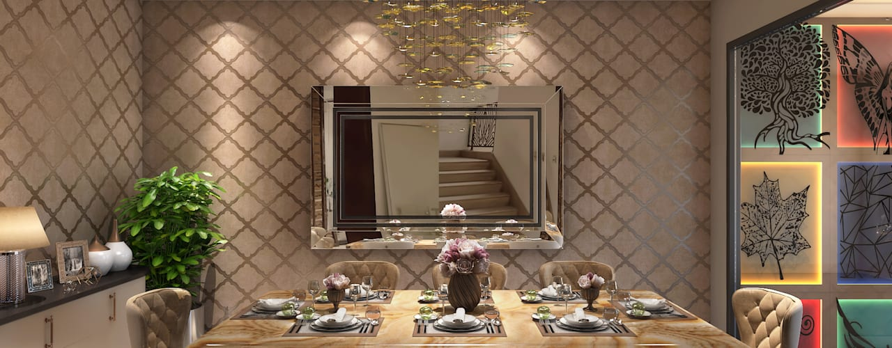 Apartment Interiors Ideas, Luxury living by VIRTUS SPACES PRIVATE LIMITED