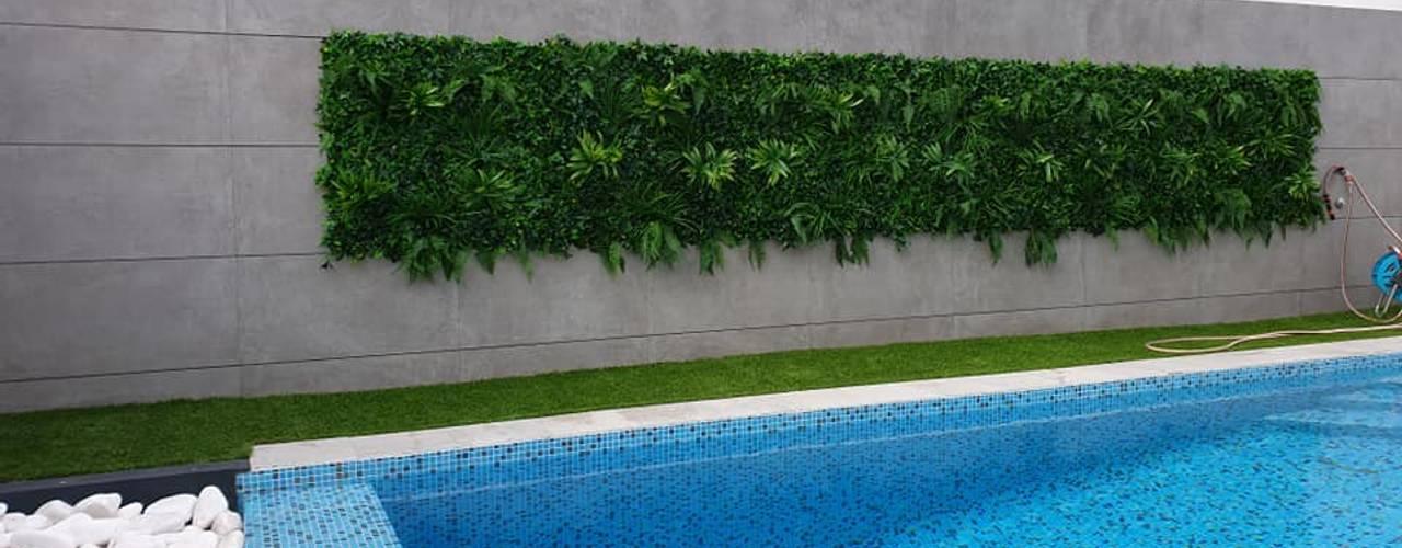 MEA Interior Design Tropical style pool