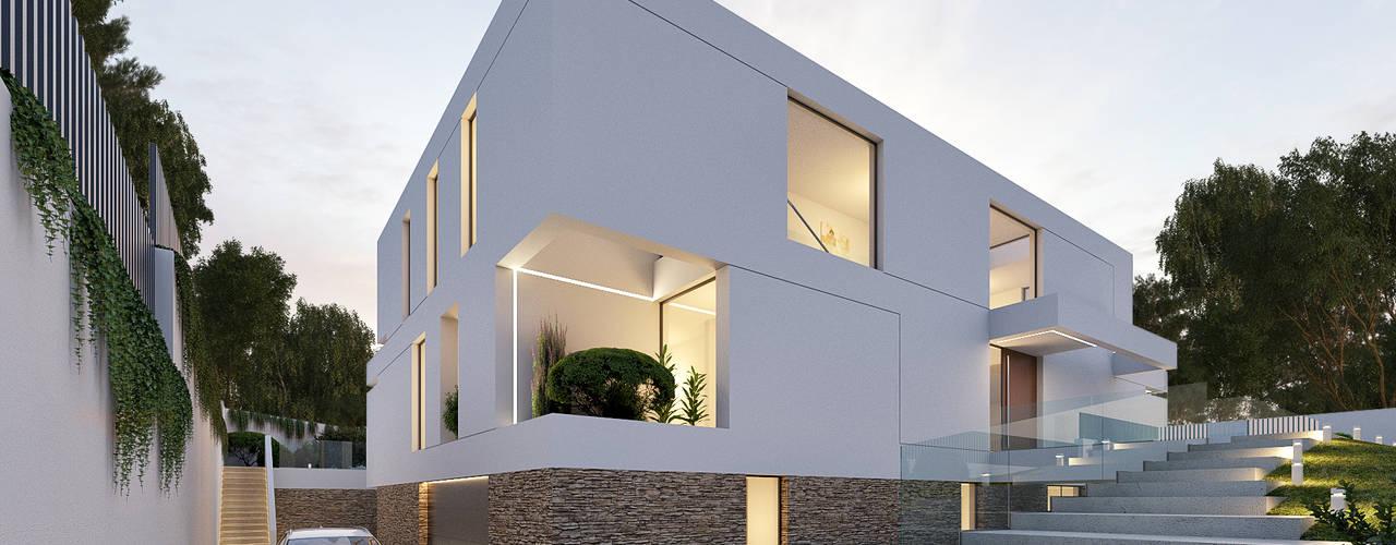 CASA I&J - Moradia em Oeiras - Projeto de Arquitetura por Traçado Regulador. Lda Moderno