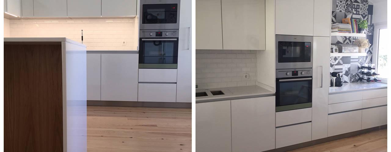 Remodelações Cozinhas modernas por Margarida Bugarim Interiores Moderno