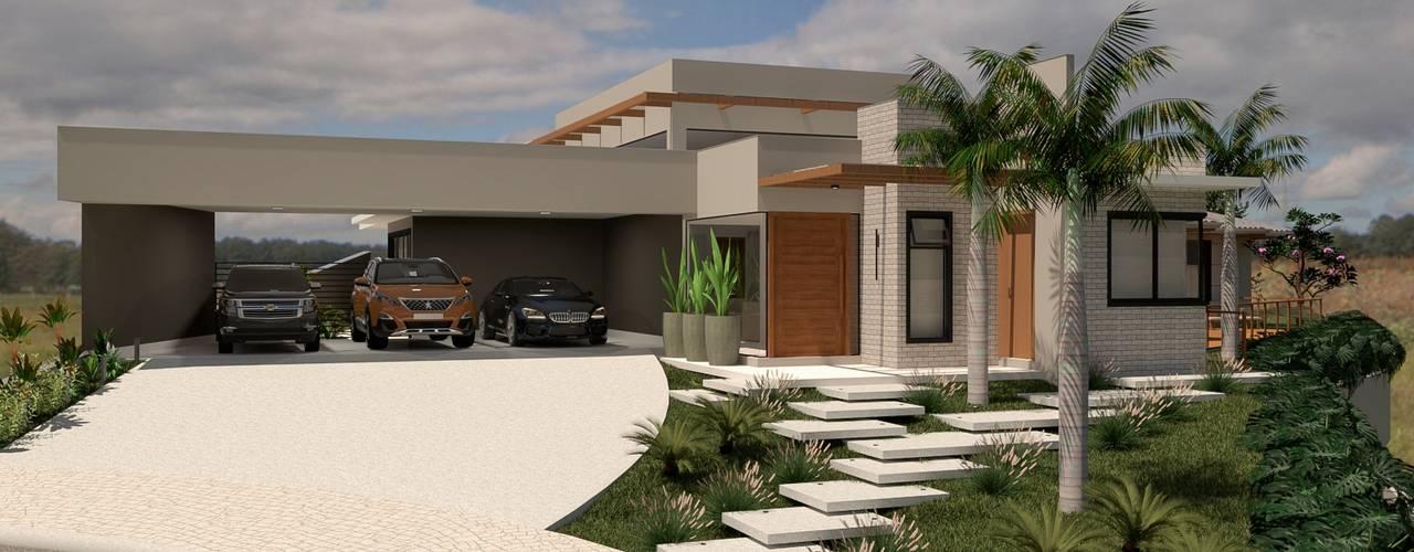 Residência contemporânea A.F. por Daniela Ponsoni Arquitetura