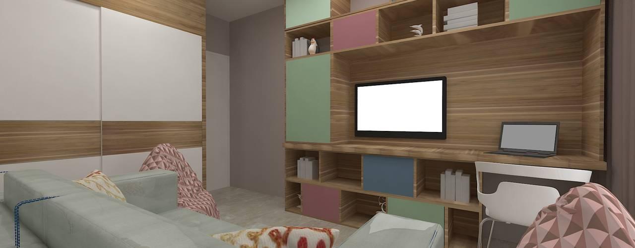 4bhk Residence, Goregaon Modern style bedroom by SPACE DESIGN STUDIOS Modern