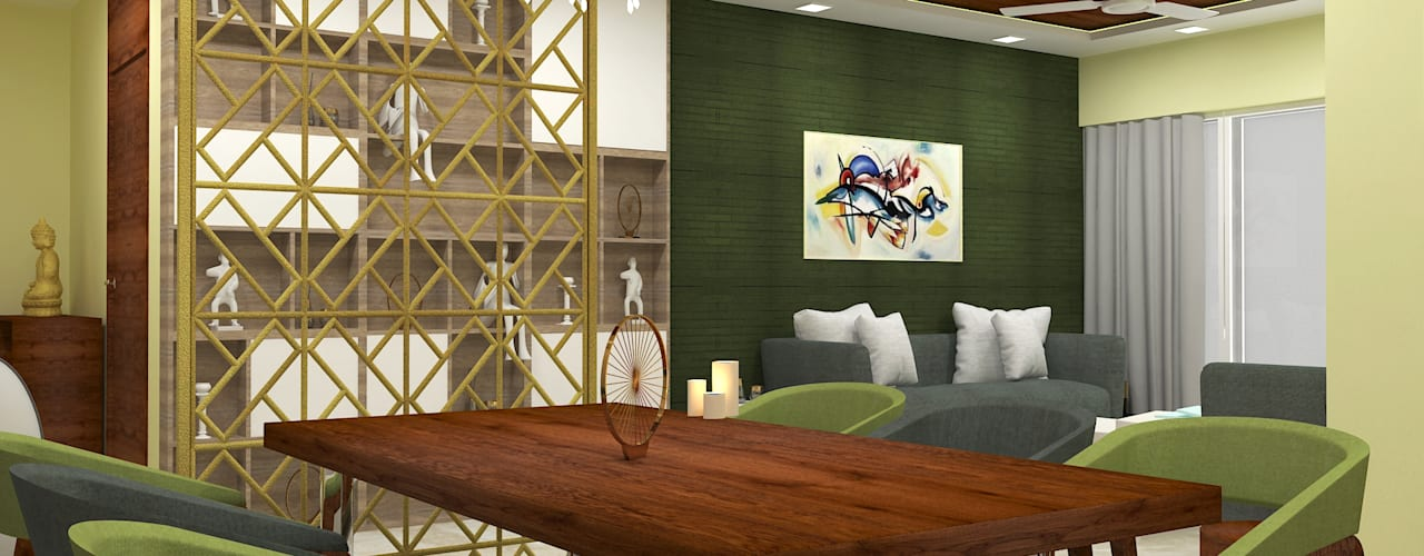 4bhk Residence, Malad Modern dining room by SPACE DESIGN STUDIOS Modern