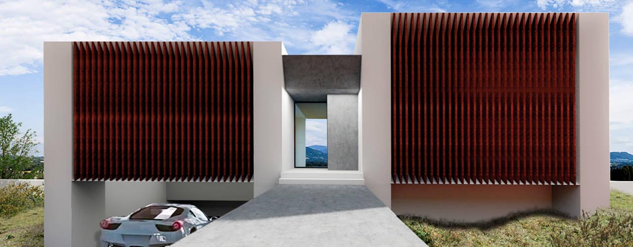 Villa 17 en La Sella. Alicante. Casas de estilo moderno de Barreres del Mundo Architects. Arquitectos e interioristas en Valencia. Moderno