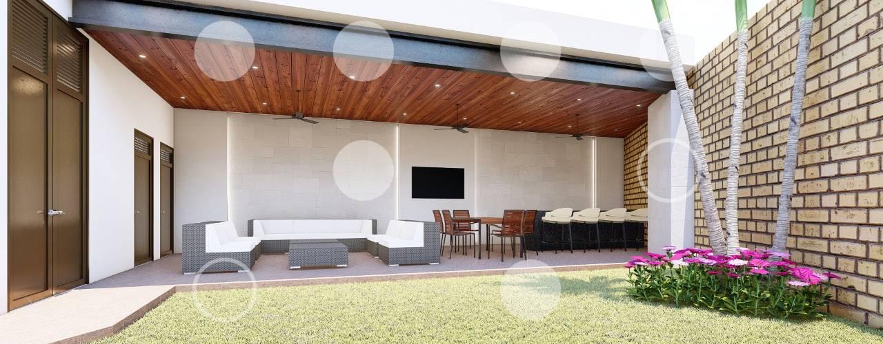 Terraza - Villa Linces Balcones y terrazas modernos de D-M studio Moderno