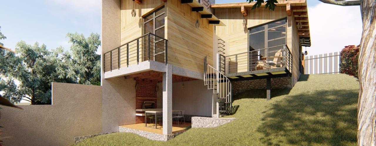 Cabaña Ecológica J.A.R. de ELH Studio Arquitectura Moderno