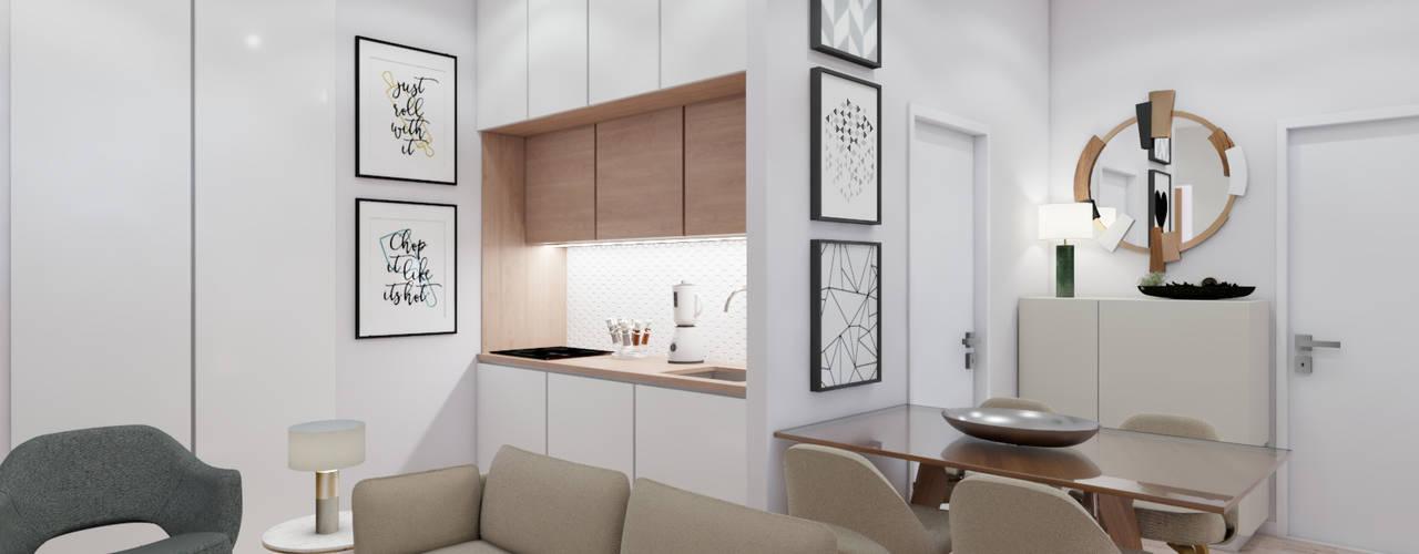 Apartamento Amoreiras T2 Art Fusion Salas de estar modernas