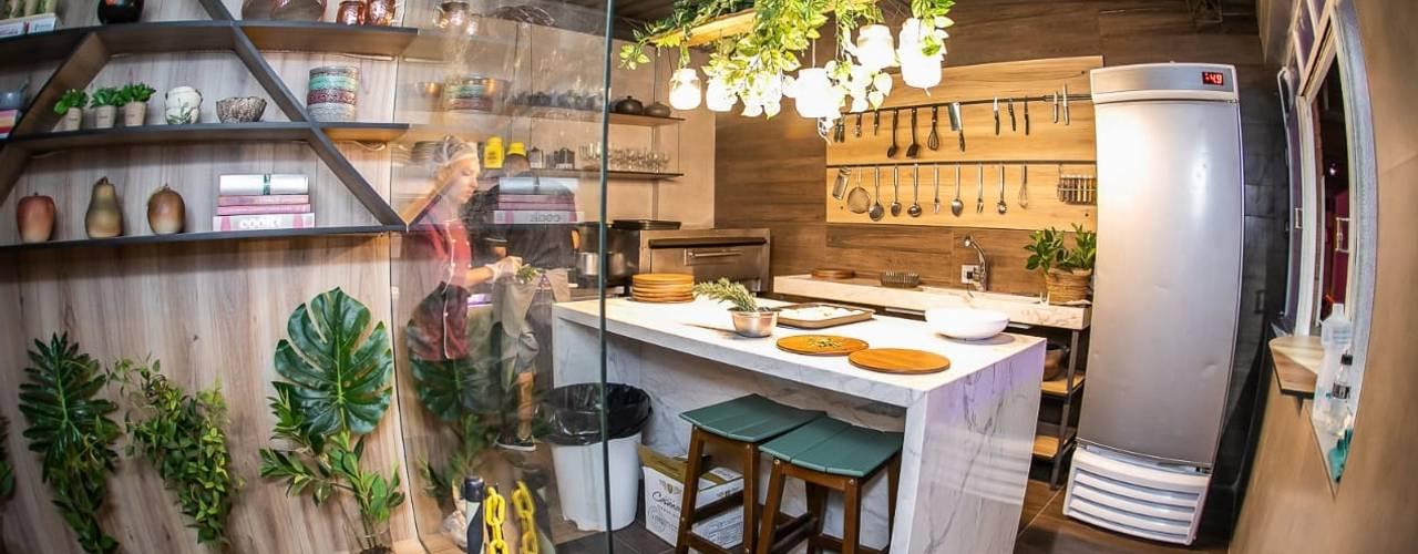 Cozinha Funcional Locais de eventos industriais por Fark Arquitetura e Design Industrial